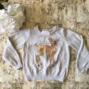 Children's Place Sequin Deer Sweater